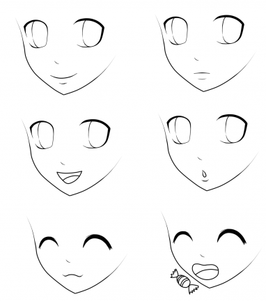 Jak narysować twarz w stylu anime