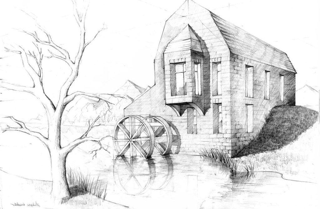 rysunki malowane ołówkiem