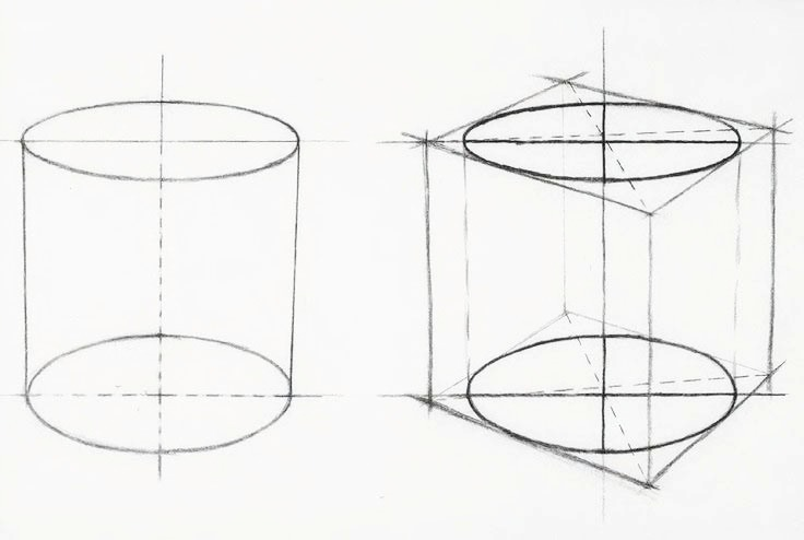 Jak narysować cylinder - pracownia Artakademia (2)