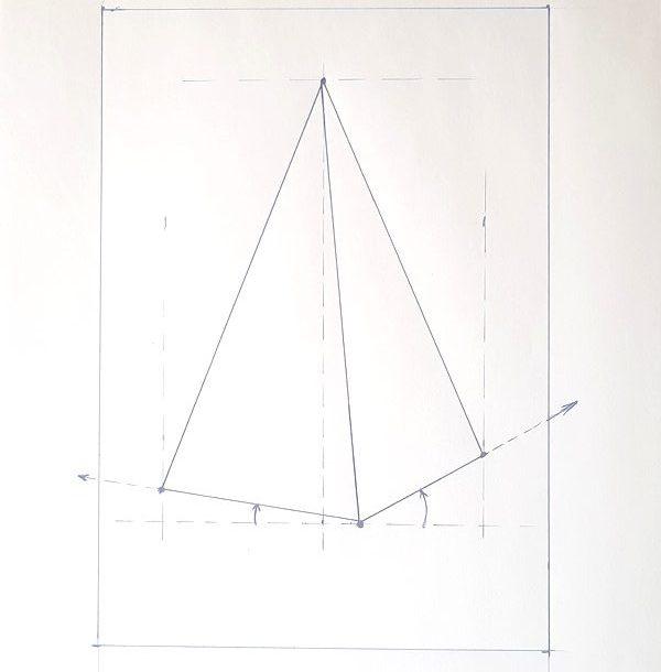 Jak narysować ostrosłup prawidłowy sześciokątny