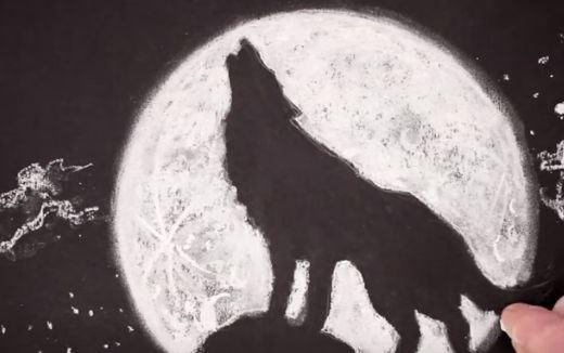 Jak narysować wilka, który wyje do księżyca?
