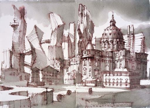 rysunek-architektury-lekcje-rysunku-Krakow-Artakademia